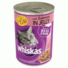 Pet 37426 Whiskas Can In Jelly With Salmon 390g 12 Pack Want To Know More Click On The Image Catfood Cat Food Chicken Chunks Food Animals
