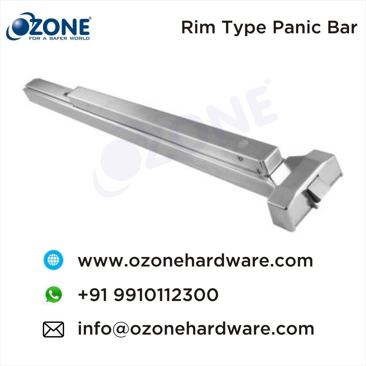 Rim Type Panic Bar Panic Bar Emergency Door Fittings Emergency Exit Door Fittings Suppliers Traders External Door Hardware Ozon Door Fittings Rim Panic