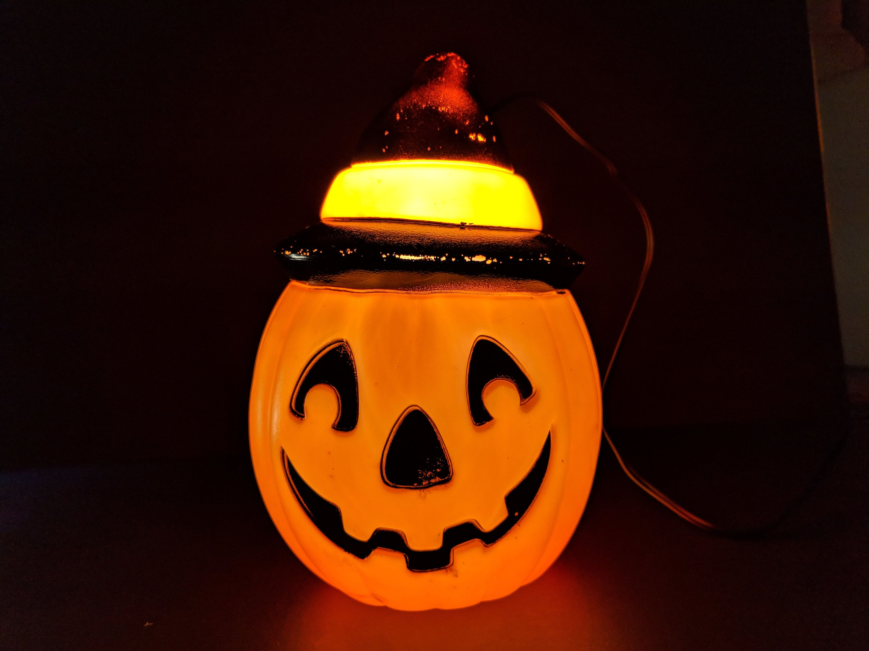 1995 empire halloween blowmold pumpkin halloween