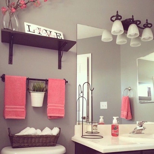 Nice Simple Bathroom Decorating Decor Homegoods Pink