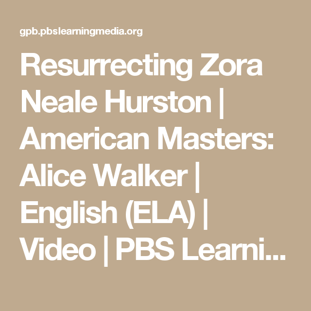 alice walkers essay in search of zora neale hurston Alice walker is an internationally celebrated writer, poet, and activist whose books include seven novels, four collections of short stories, four children's books, and volumes of essays and poetry.