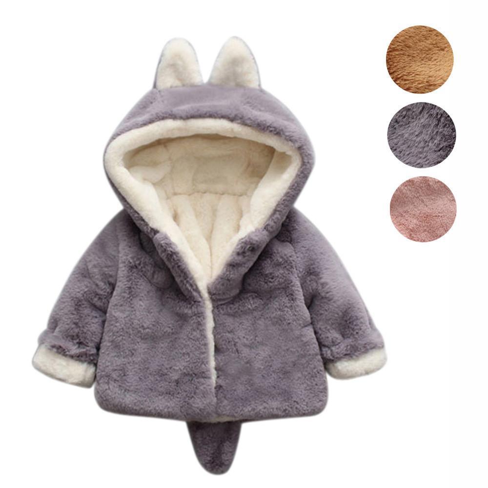 7ce2c2c7a54e Hooded Cloak Jacket Thick Clothes Warm Coat Infant Velvet Outerwear ...