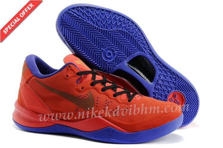 hot sale online 4ef6b 5e5e8 New Nike Kobe 8 GC EXT CHINESE Rouge Or ROYAL Bleu 582554 600 Chaussures  For Sale
