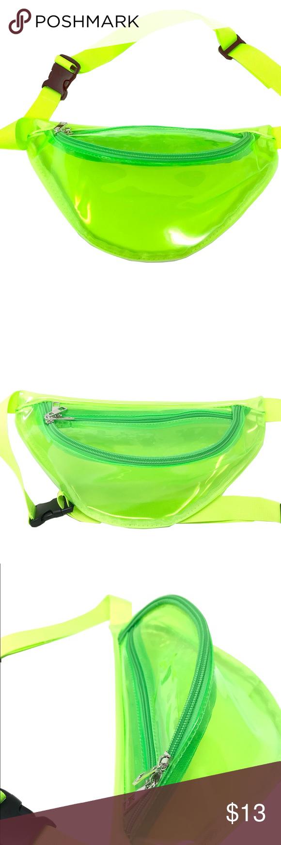 a4288401c685 Clear Green Fanny Pack Polyurethane Mini Bag Clear Green Fanny Pack ...