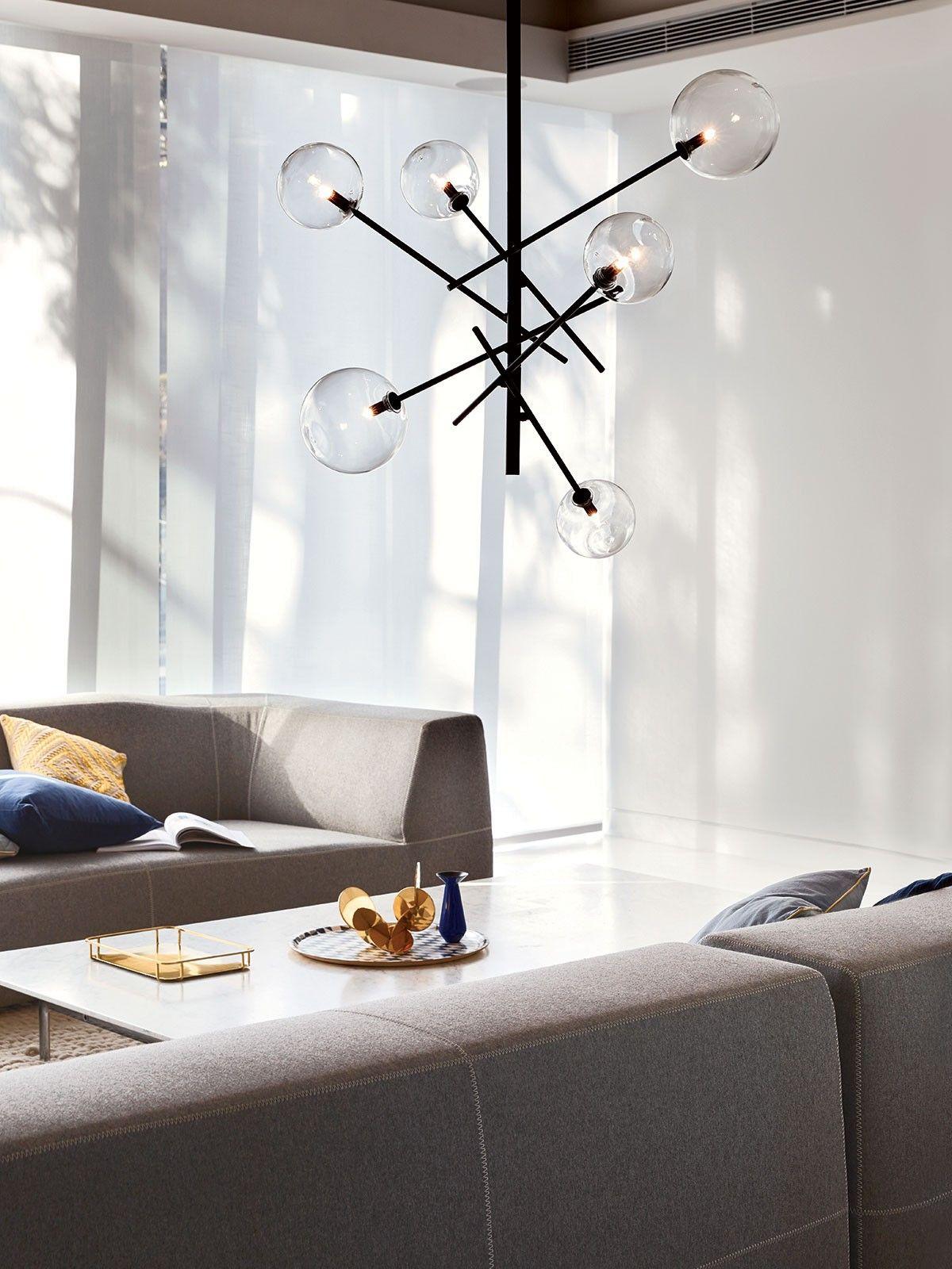 6 light or more bathroom lights lighting fixtures - Aksel 6 Light Pendant In Black Clear Modern Pendants Pendant Lights Lighting