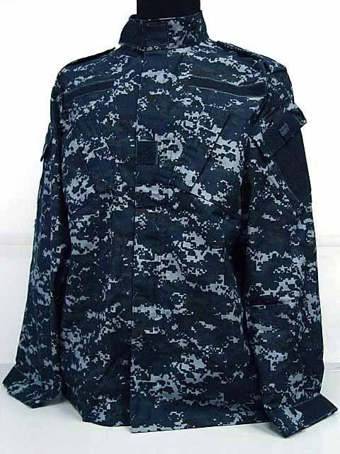 b1a3bd24705ae US Navy BDU Field Uniform Set Digital Navy Blue Camo | Michael's ...