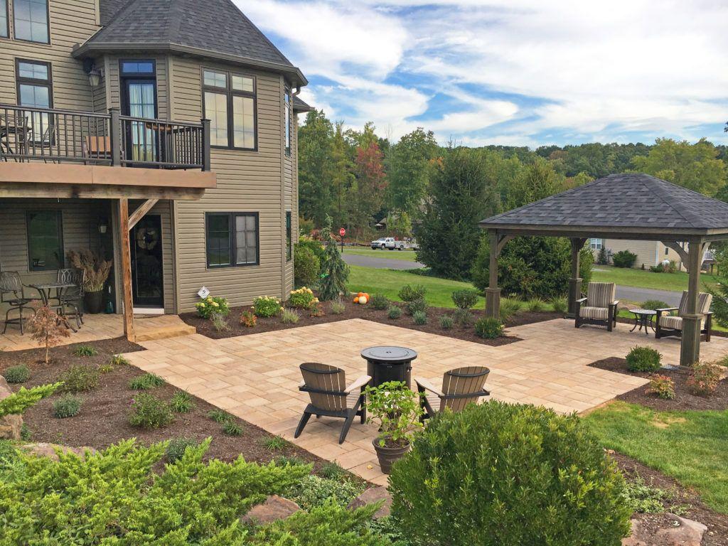 Paver Patio | Patio, Paver patio, Backyard patio designs on Square Paver Patio Ideas id=24055