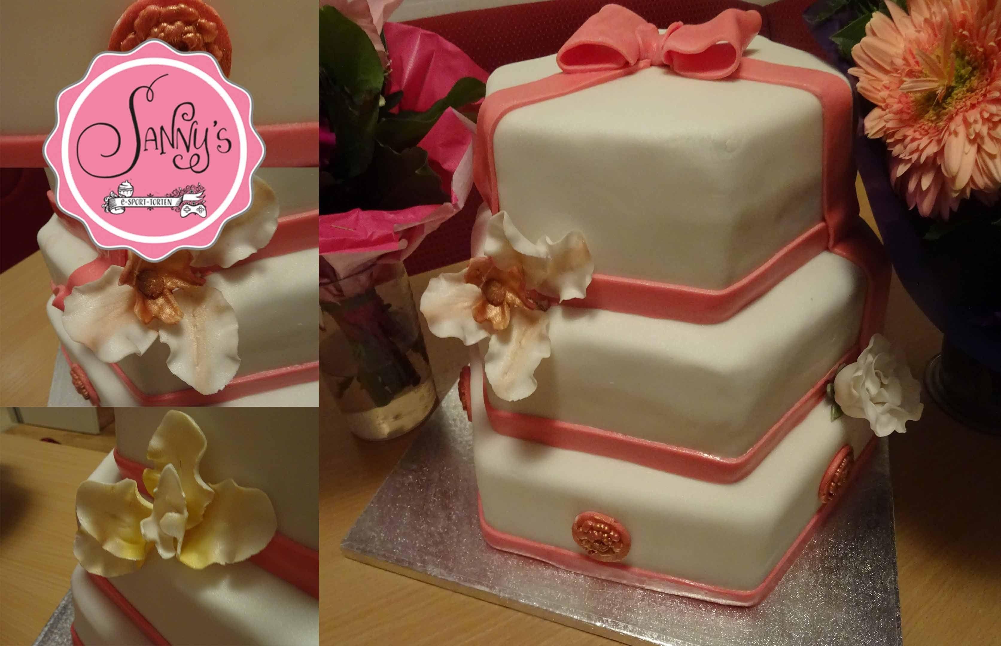 30ster Geburtstagmeine Tortebirthday cakegumpaste flowershow to