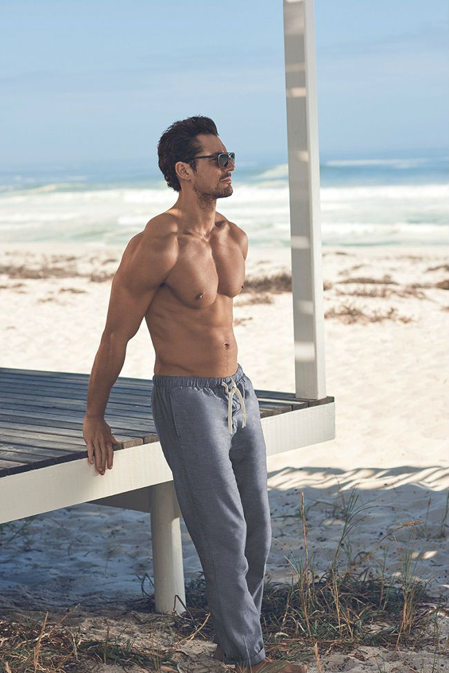 70e2aa79a6296 For Spring/Summer 2016 Marks and Spencer have teamed up with David Gandy to  release Men's Beachwear Autograph.