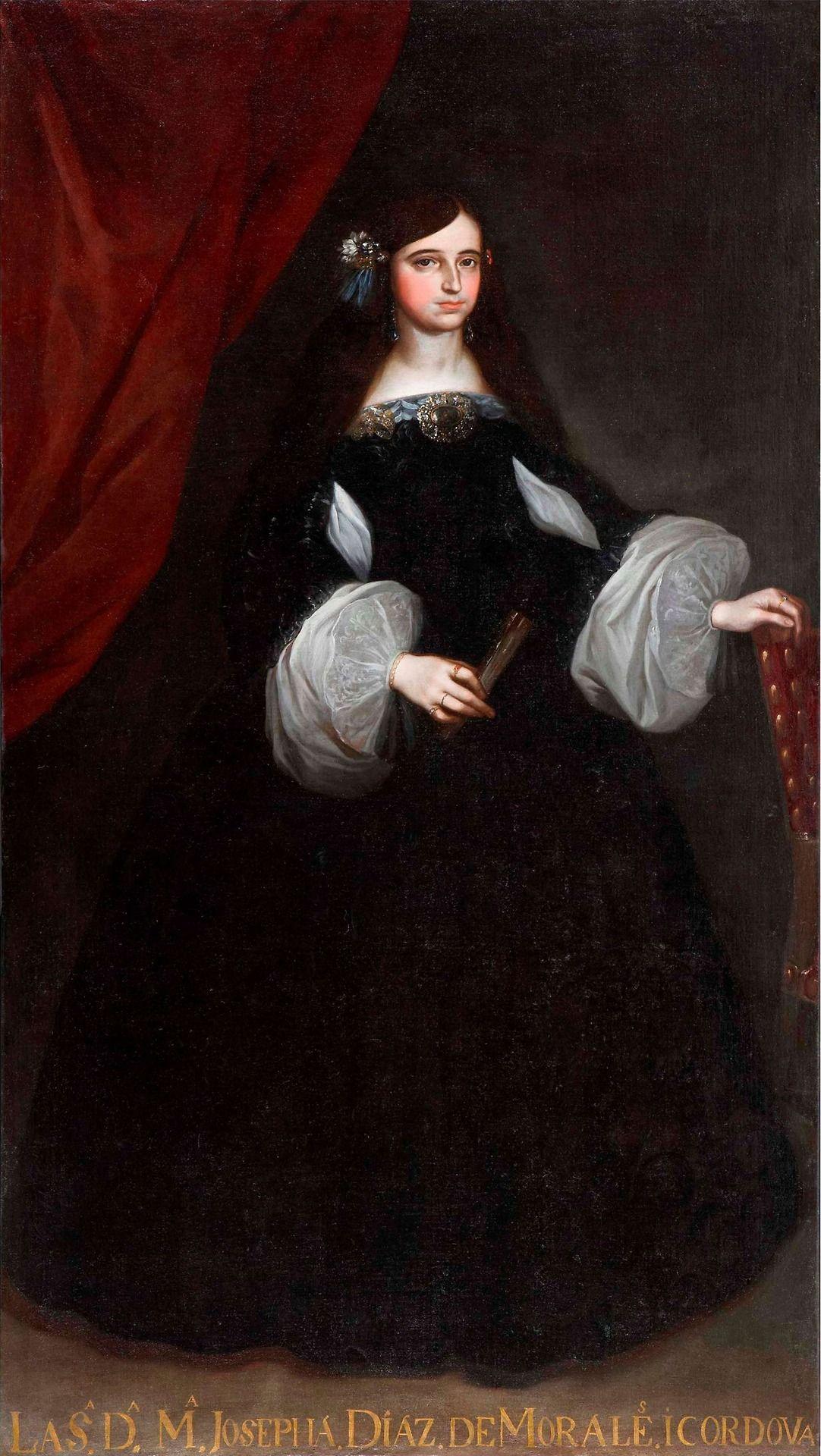 1660s Portrait Of Maria Josefa Diaz De Morales Y Cordoba By Juan De