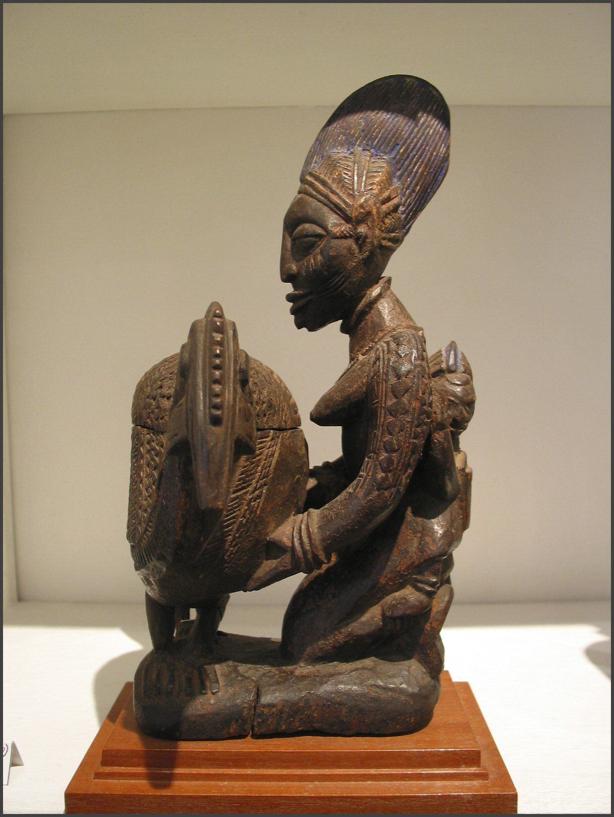 Yoruba Olumeye Kneeling Female Offering Bowl Nigeria