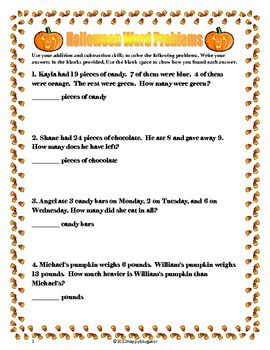 halloween math word problems tpt math lessons math word problems halloween math word problems. Black Bedroom Furniture Sets. Home Design Ideas