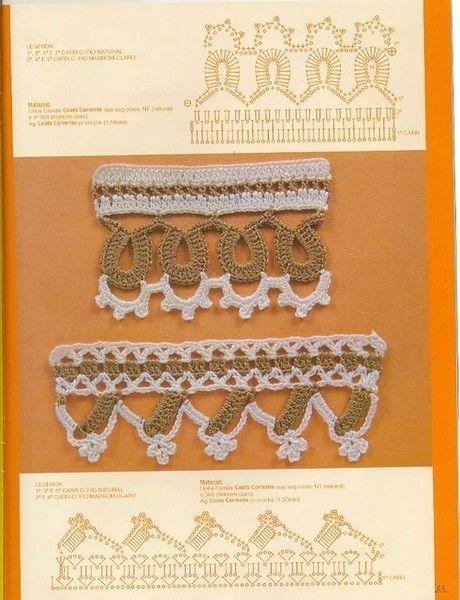 Delicadezas en crochet Gabriela: 33 Patrones gratis de puntillas ...