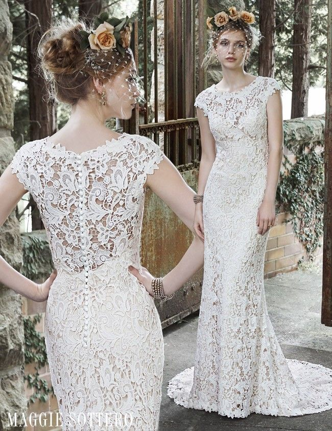 Vintage Inspired Lace Wedding Dress by Maggie Sottero | Maggie ...