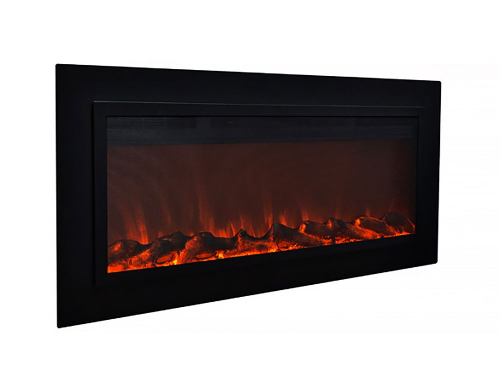 Touchstone 50 In Sideline Steel Built In Electric Fireplace