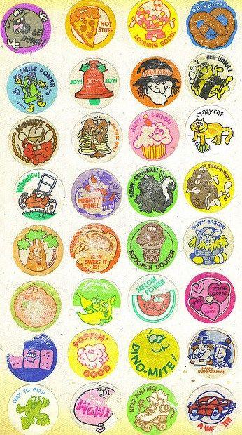 Copper Tan Vintage Scratch /& Sniff Stickers Excellent!! Mello Smello