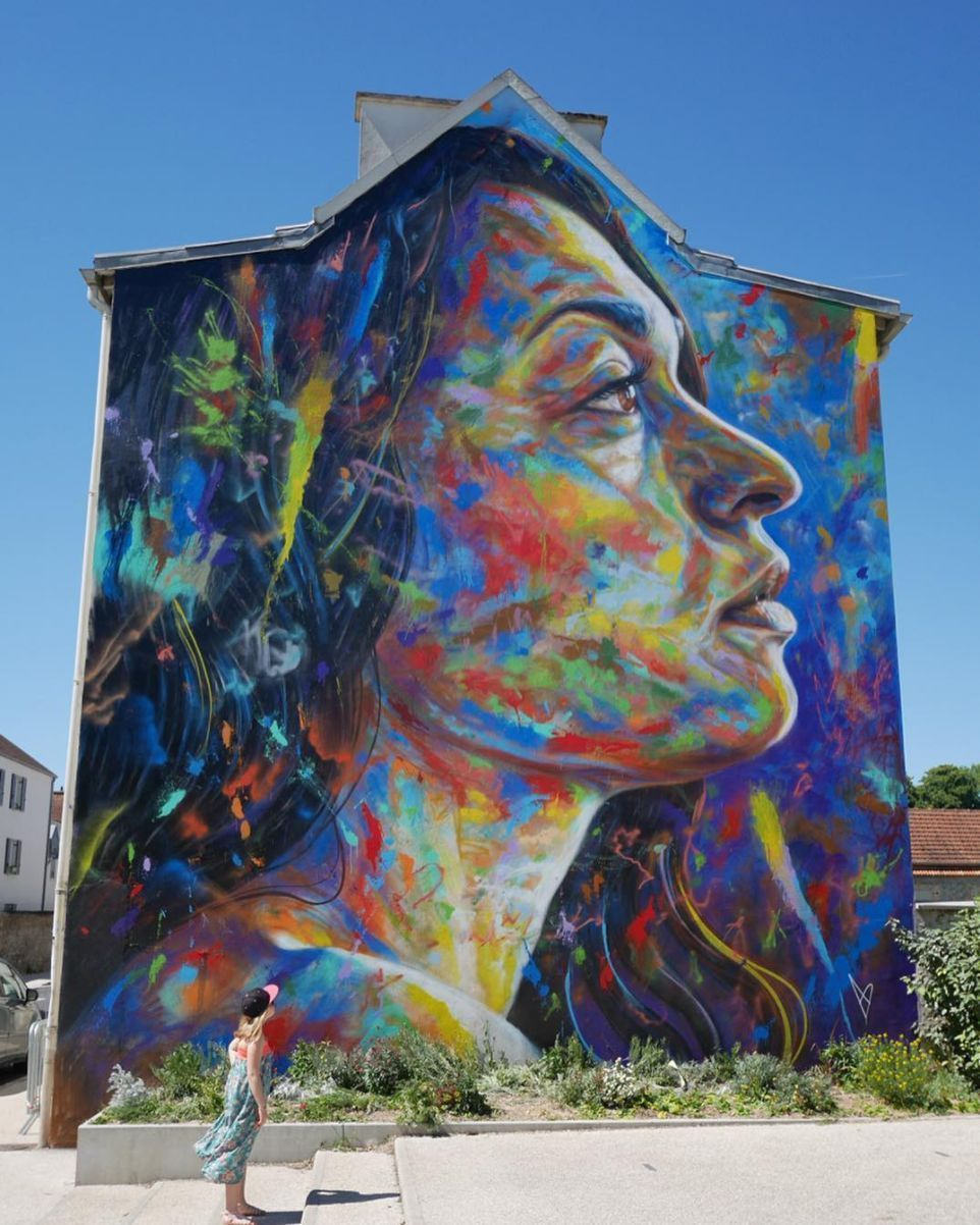 Mural by artofdavidwalker in lieusaint france for the wall street