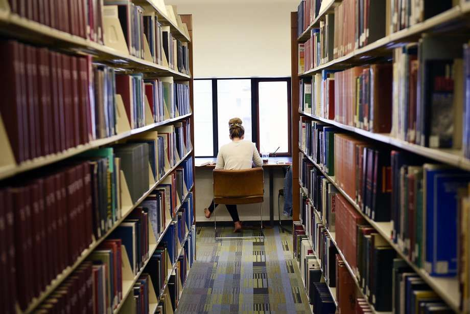 First year student Kara Goidosik studies in the library at UC Hastings College of the Law in San Francisco. Photo: Michael Short, Special To The Chronicle