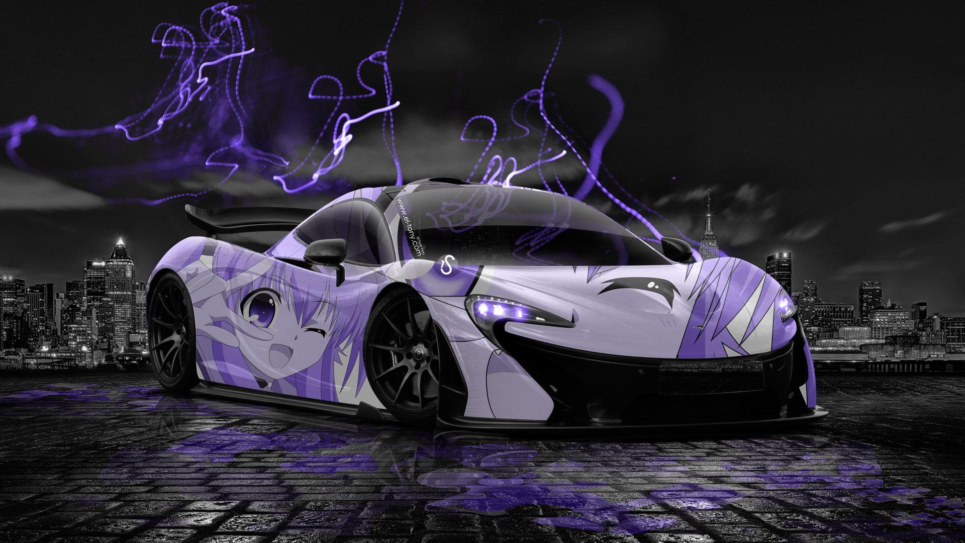 McLaren P1 Anime Aerography City Car 2014