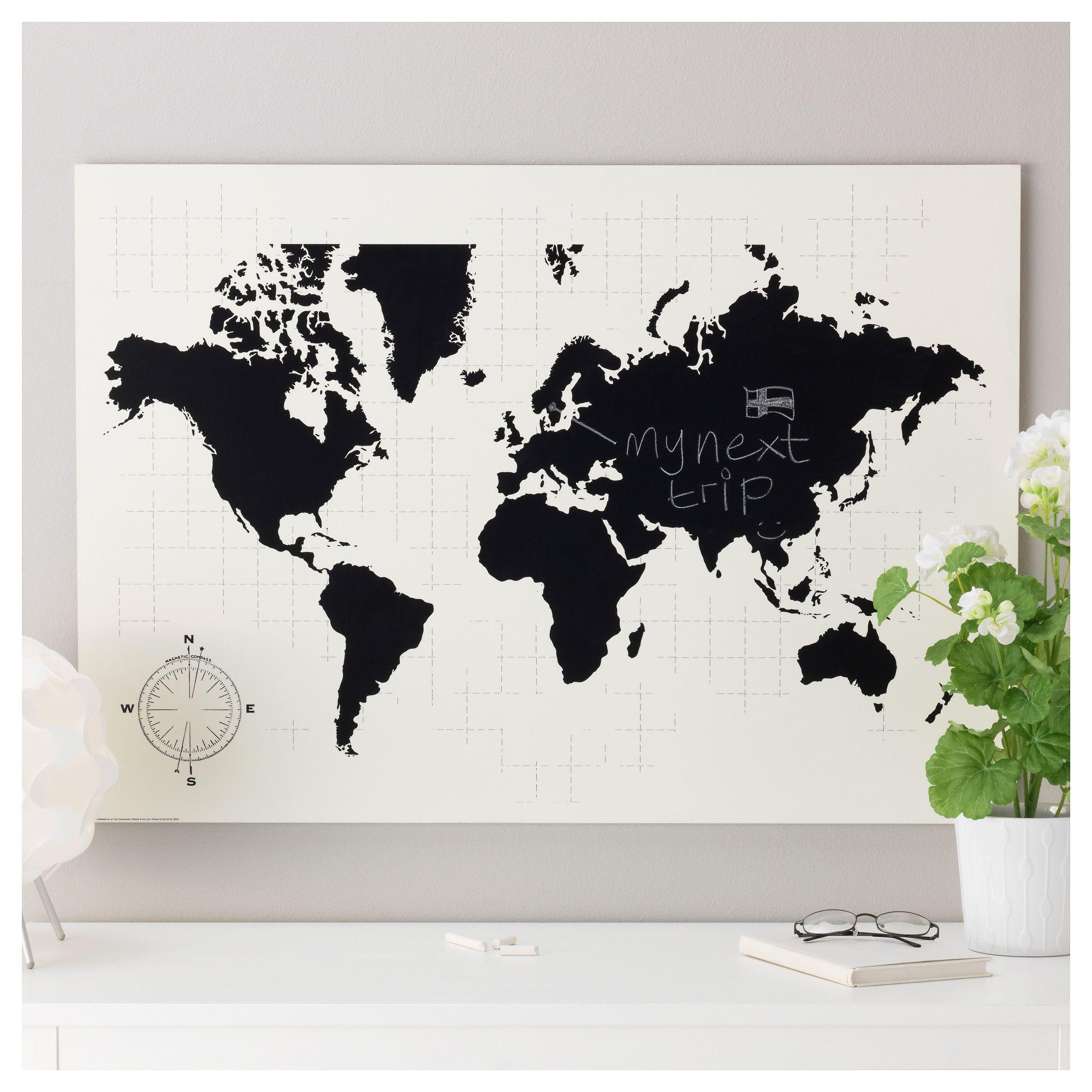 ikea mlltorp planbord motief van archie stonede wereldkaart is een decoratief
