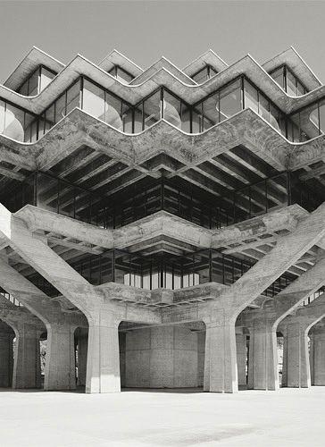 Architect william pereira geisel library uc san diego - Arquitectura pereira ...