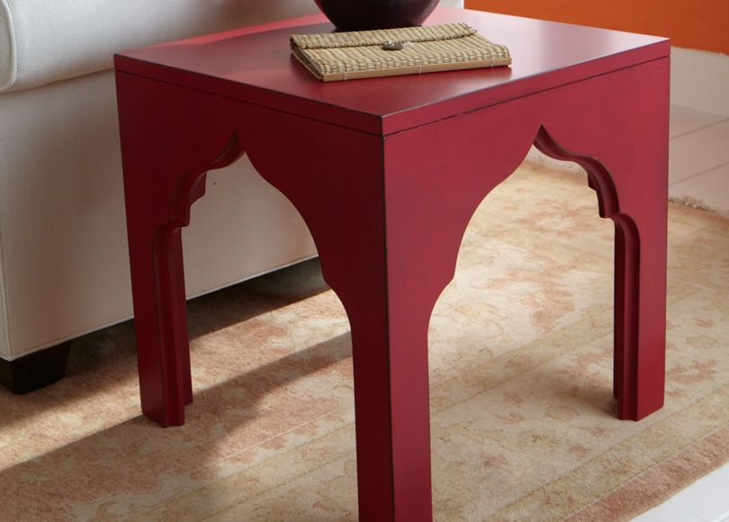 Raspberry Moroccan Accent Table