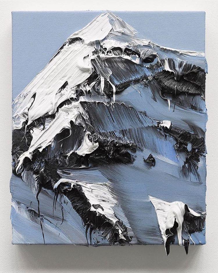 Incredible depth in Conrad Jon Godly's mountain artworks.