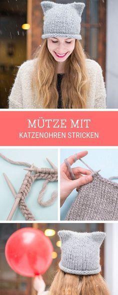 Photo of Strickanleitung: Süße Katzenmütze mit Ohren Stricken / Stricken Inspiration für …