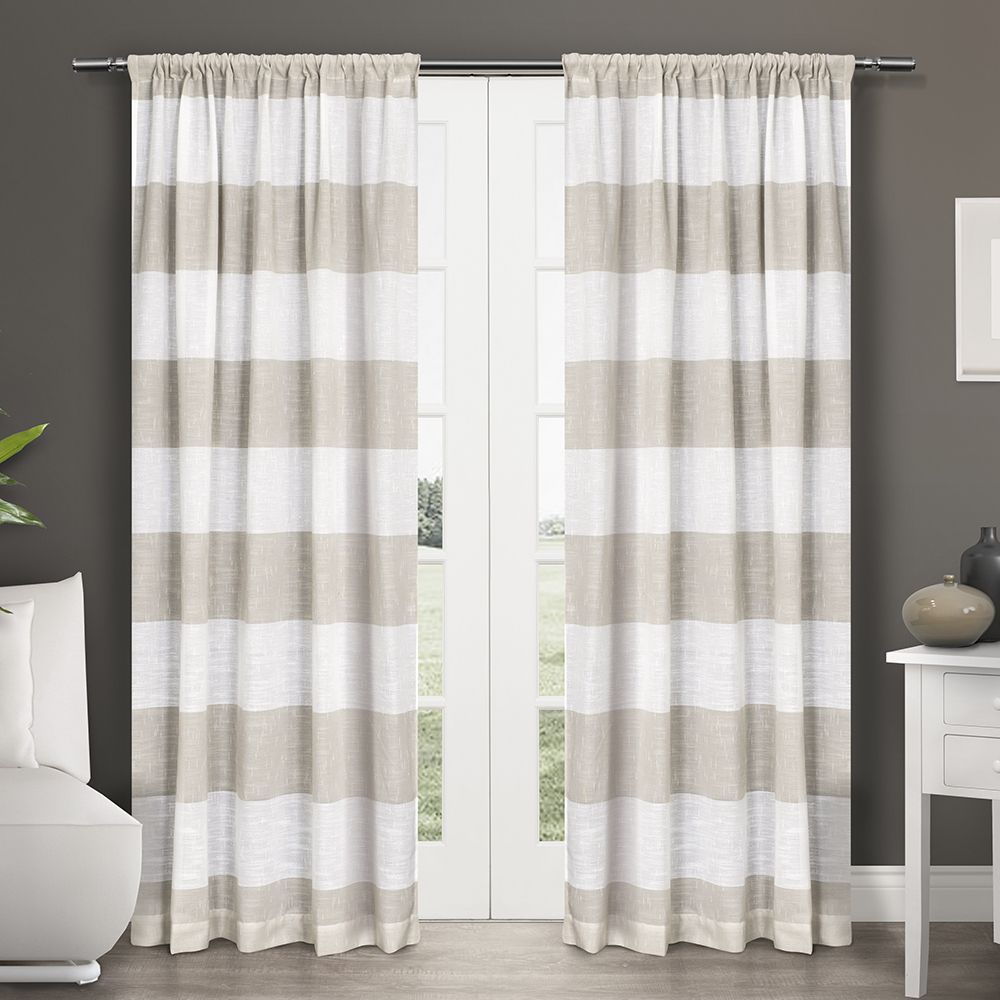 ATI Home Darma Semi Sheer Rod Pocket Window Curtain 84