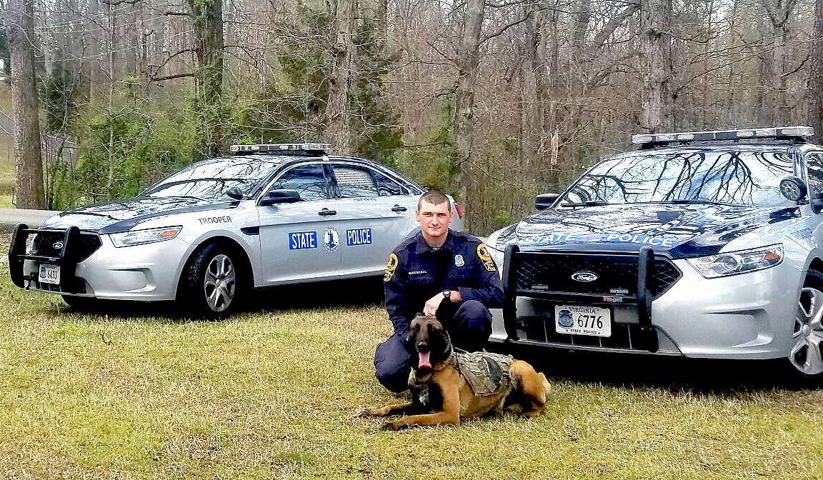 Virginia Virginia State Police K9 Unit State Police Police Police K9
