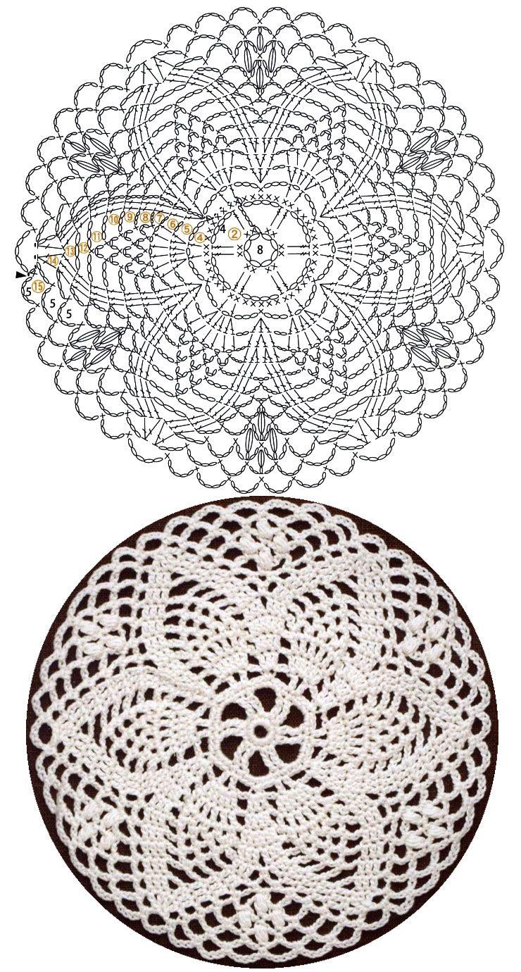 Pin von Débora Detoni auf Crochet | Pinterest | Häkeldeckchen ...