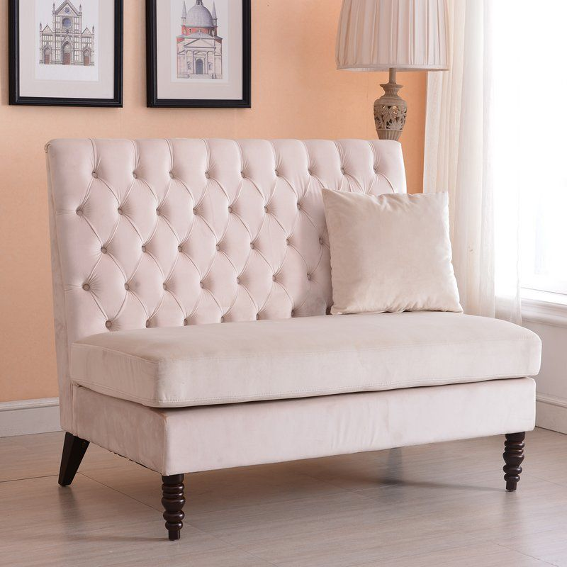 Ellayne Tufted High Back Loveseat In 2019 Sandpiper Couch
