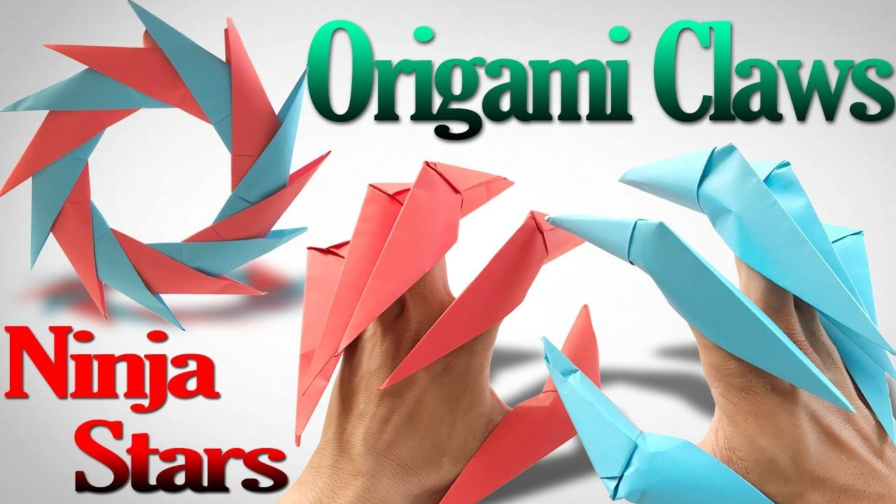 How To Make An Origami Claws Ninja Stars Shuriken Step By