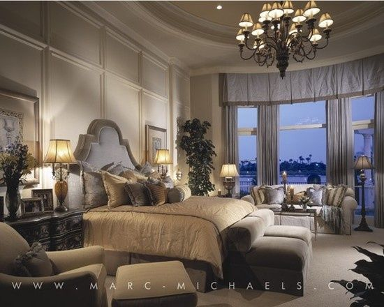 Bedroom: Luxury Master Suite, Grays