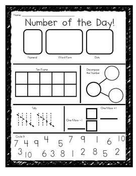 Number Of The Day Daily Number Practice With Images Math