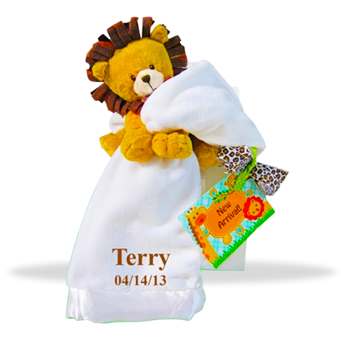 Lovable lion baby gift set price 4995 giftbaskets4baby lovable lion plush personalized baby gift set shipping to usa negle Choice Image