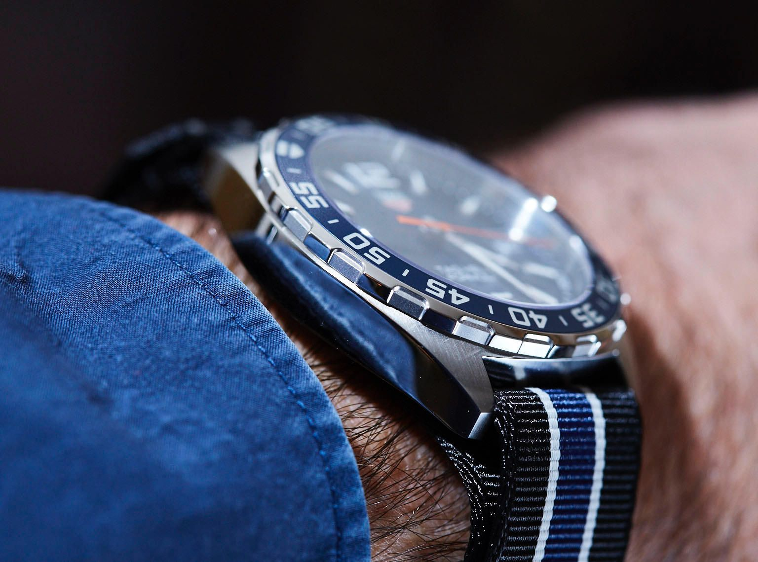 68ee005ca5b1 In Depth Review- 2016 TAG Heuer Formula 1 Blue Dial
