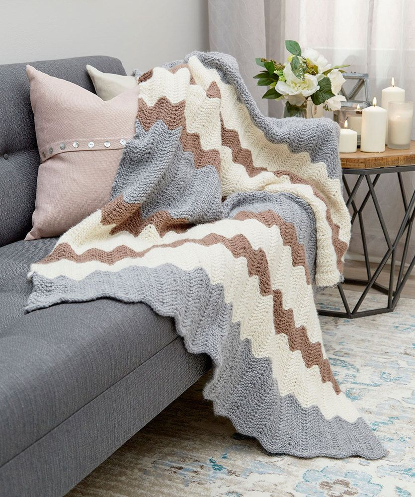 Calming Colors Chevron Throw Free Knitting Pattern   Calming colors ...