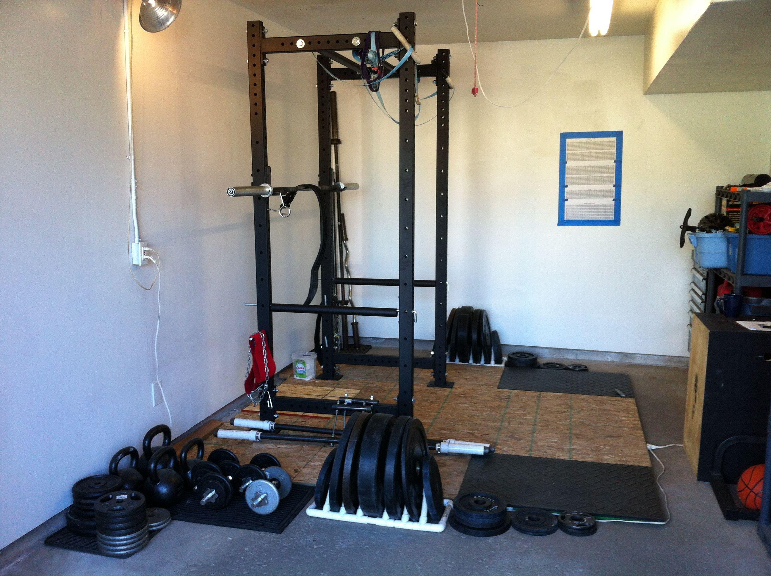 Pin by jade d on garage gym garage gym gym guys power rack
