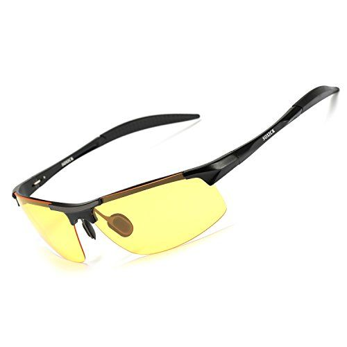 4a9dc2fd30 SOXICK HD Polarized Night Driving Glasses Anti Glare Safety Glasses (Black1)     Click image for more details.