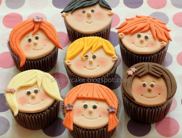 naughty kids cupcake | Kid cupcakes, Fondant cupcakes, Cupcake cakes
