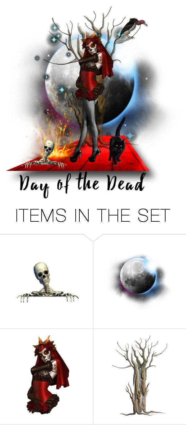 """Day of the Dead"" by sarah-crotty ❤ liked on Polyvore featuring art and Dayofthedead"