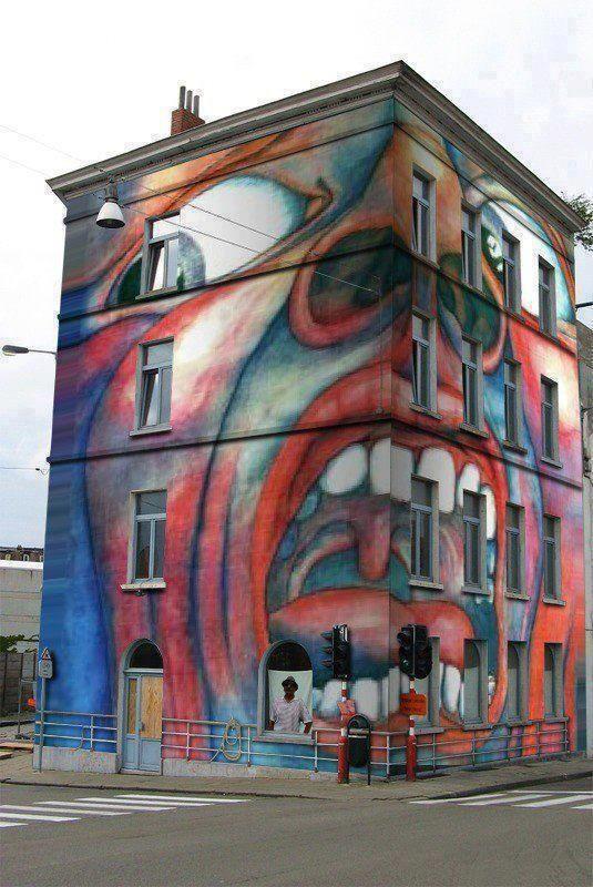 Awesome building mural #citytoks #streetart