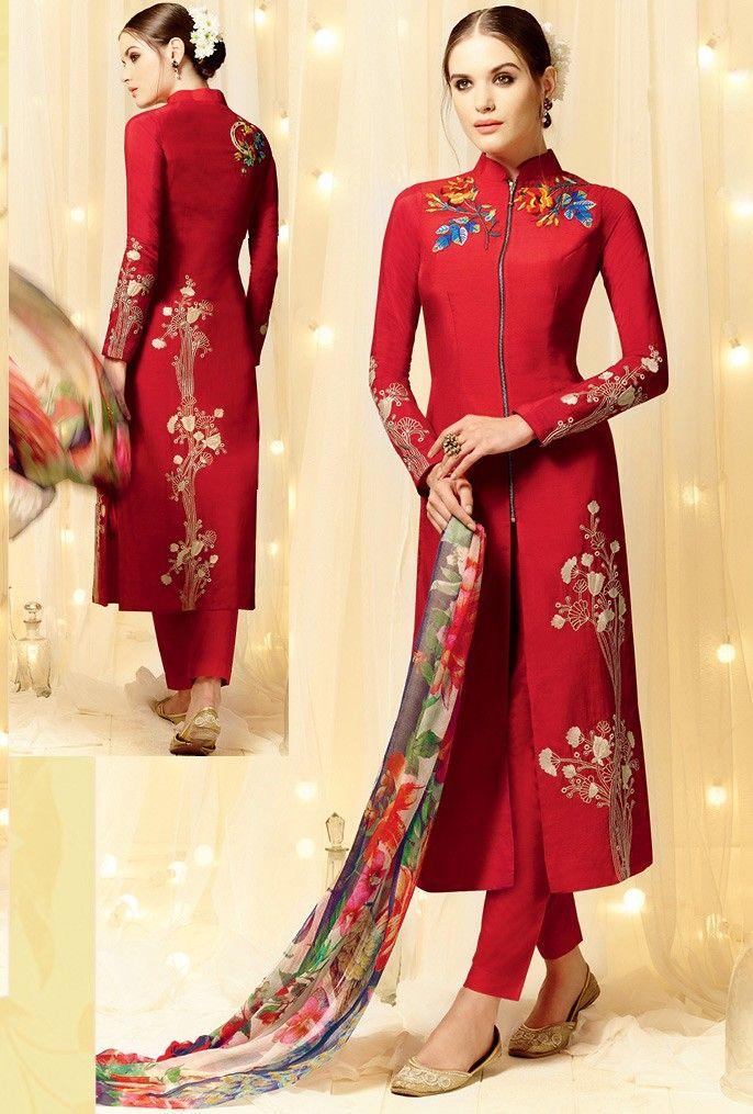 539c845525 Designer Pakistani Salwar Kameez with beautiful flower work | Indian ...