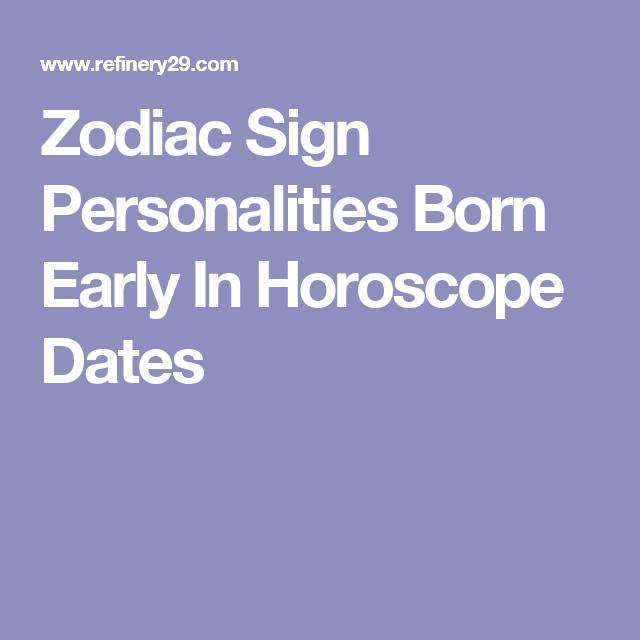 born early astrology