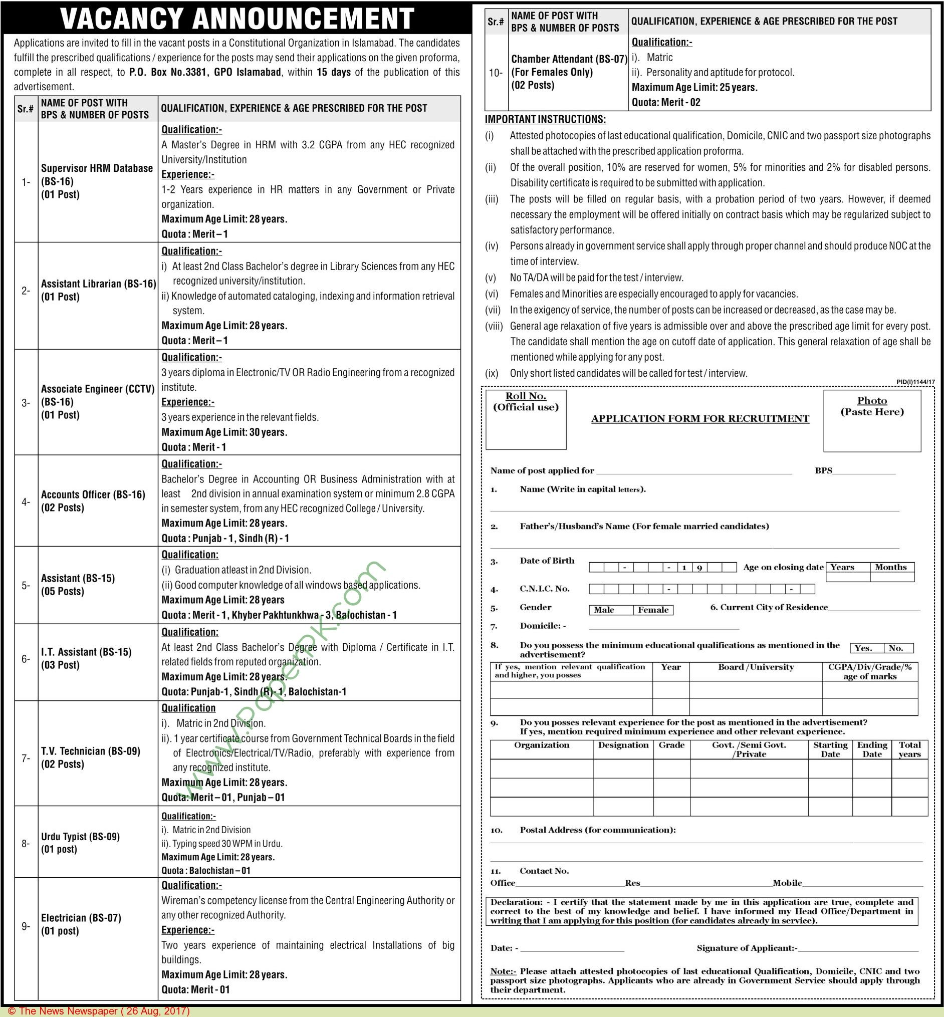 Federal Government Islamabad Jobs  Jobs In Pakistan