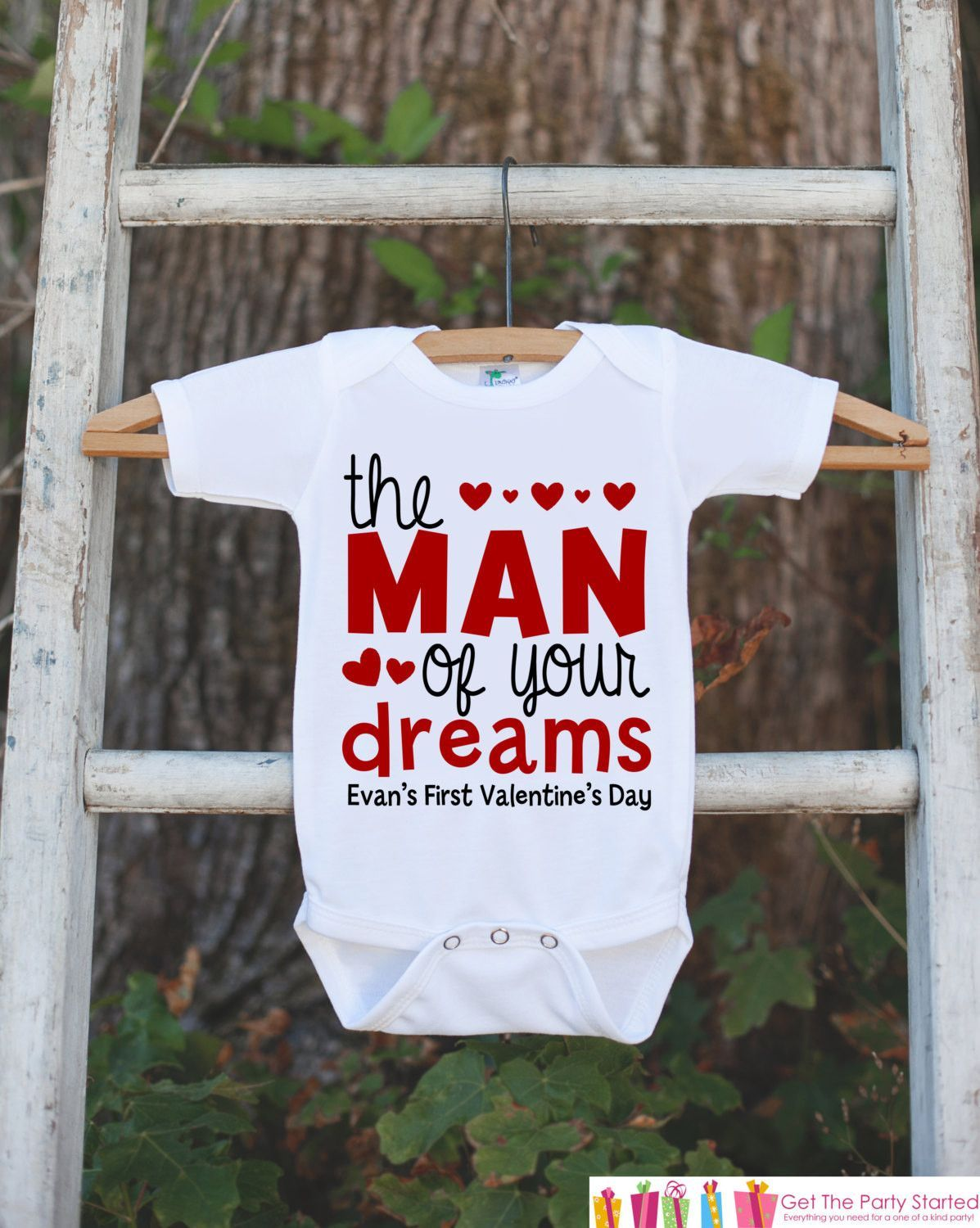 Personalised Stealing Hearts Valentines Day Baby  babygrow all in one