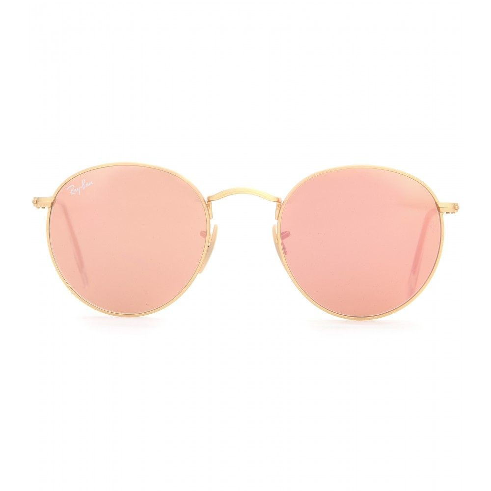 79b874af0ad5 Ray-Ban - RB3447 round sunglasses - The dainty silhouette of Ray-Ban's  round lenses is made even more noteworthy with the mirrored rose-shade pink.