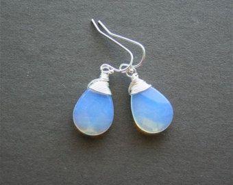 Moonstone Earrings Oplite Jewelry Blue By Smilesophie