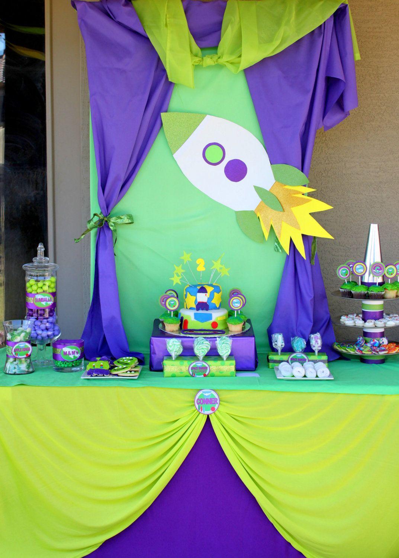 Decoración Fiesta Espacial Para Niño Candy Bar Buzz